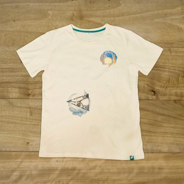 100% organic cotton T-shirt by Jevon Chin